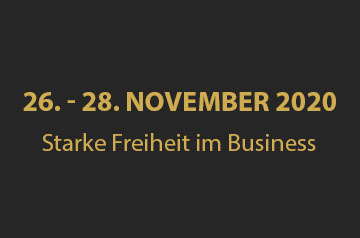 Starke Freiheit im Business – 26. – 28. November 2020